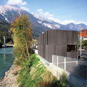 Hochwasserpumpwerk Émile-Béthouart-Steg Innsbruck